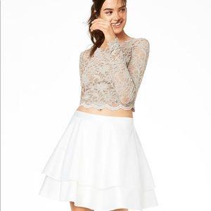 City Studio Junior Lace Contrast 2-piece Dress